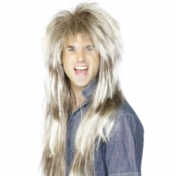 Blonde and Brown 80's Mega Mullet Wig