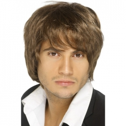 Brown Band Boy Wig