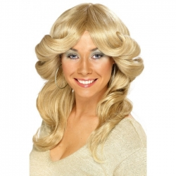 Long Blonde 70's Flick Wig