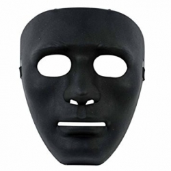 Mask Black Blank Face