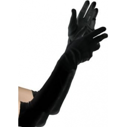 Gloves Black 20's Flapper Girl
