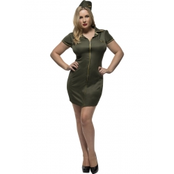 Army Curves Female Costume