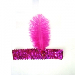 1920's Flapper Hot Pink Headband