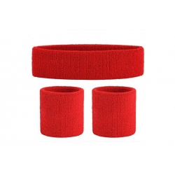 Head and Wristband Set Red