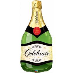 Celebrate Bubbly Wine Bottle Foil Balloon