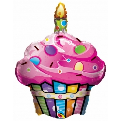 Fun & Funky Cupcake Foil Balloon