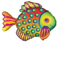 Tropical Fish Foil Balloon