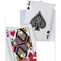Queen of Hearts Ace of Spades Foil Balloon