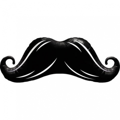 Black Moustache Foil Balloon