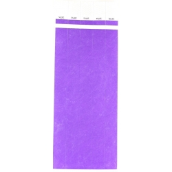 ID Wristbands 100 pack - Purple