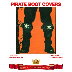 Pirate Black Boot Covers