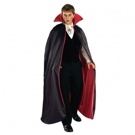 Dracula Reversible Satin Cape With Collar