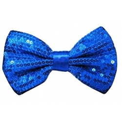 Bow Tie Sequin Blue