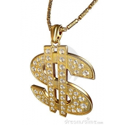 Necklace $ Sign Diamonds