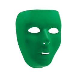 Mask Green Blank Face