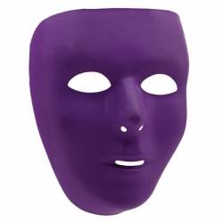 Mask Purple Blank Face