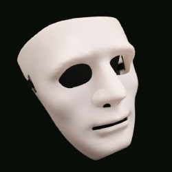 Mask White Blank Face