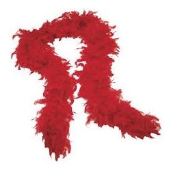 Boa Feather Red