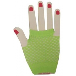 Gloves Fishnet Wrist green