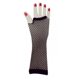 Black Fishnet Gloves Elbow