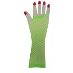 Green Fishnet Gloves Elbow