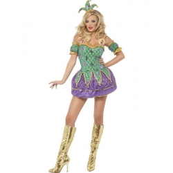 Fever Harlequin Shine Costume