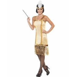 Flapper 1920's Gold Dress Costume