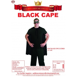 Cape Black No Collar