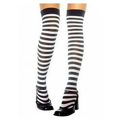 Black and White Stripes Stockings Knee High