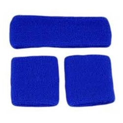 Head and Wristband Set Blue