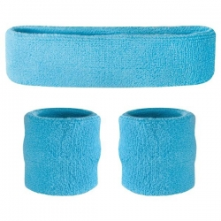 Head and Wristband Set Light Blue