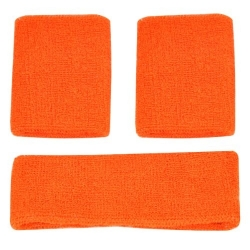 Head and Wristband Set Orange
