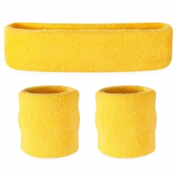 Head and Wristband Set Yellow