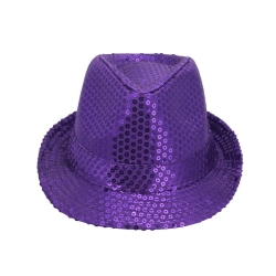 Purple Sequin Hat