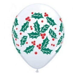 Christmas Mistletoe Print Latex 28cm