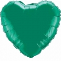 Emerald Green Heart 45cm