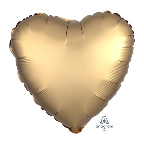 Satin Gold Heart 45cm