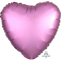 Satin Flamingo Heart 45cm