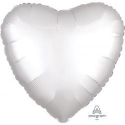 Satin White Heart 45cm