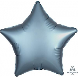 Satin Blue Steel Star 45cm