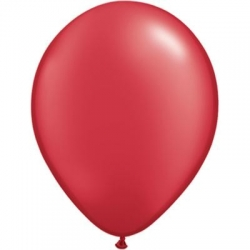 Qualatex Balloons Pearl Ruby Red