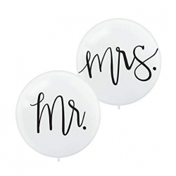 "Mr & Mrs 24"" Balloon Set"
