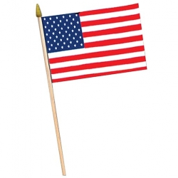 American Flag on Stick