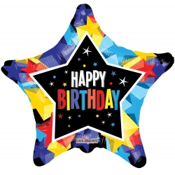 Happy Birthday Star Foil 45cm