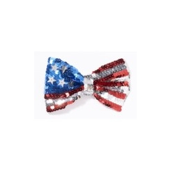 US Flag Sequin Bowtie