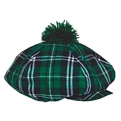 Green Scottish Tartan Hat