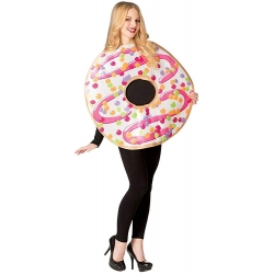 White Frosted Donut Costume