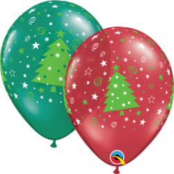 Christmas Trees Stars & Swirls Balloons