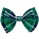 Bow Tie Green Plaid