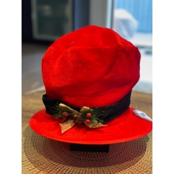 Mistletoe Top Hat Red
